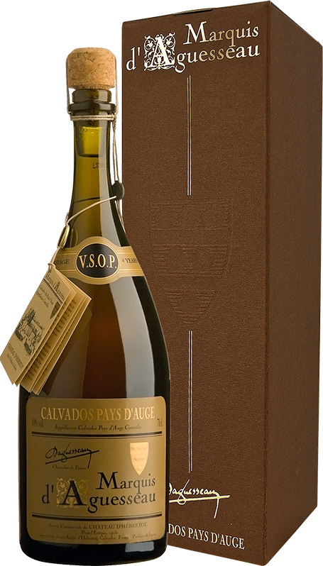 Marquis d'Aguesseau, V.S.O.P. 4 ans, Calvados Pays d'Auge, in gift box, 0.7 л.