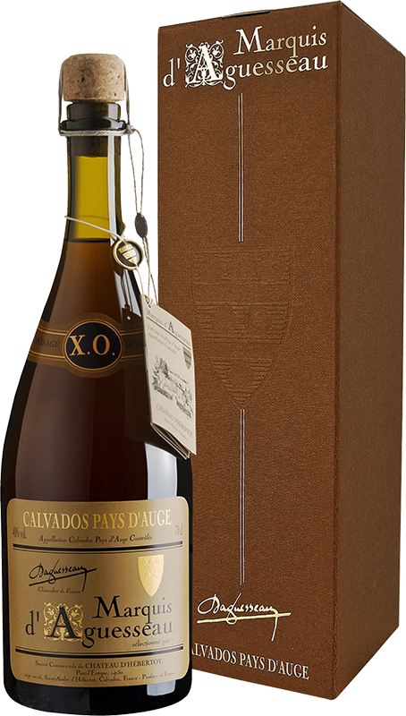 Marquis d'Aguesseau, X.O. 30 ans, Calvados Pays d'Auge, in gift box, 0.7 л.