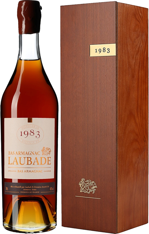 Chateau de Laubade, Vintage 1983, in wooden box, 0.7 л.