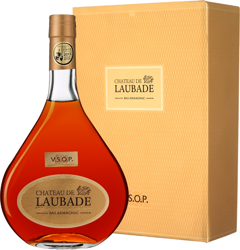 Chateau de Laubade V.S.O.P. in carafe Odile, in gift box, 0.7 л.