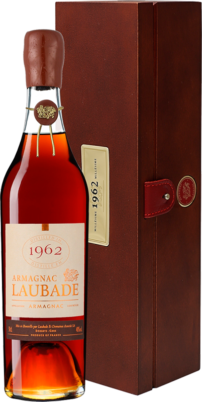 Chateau de Laubade, Vintage 1962, in wooden box, 0.5 л.