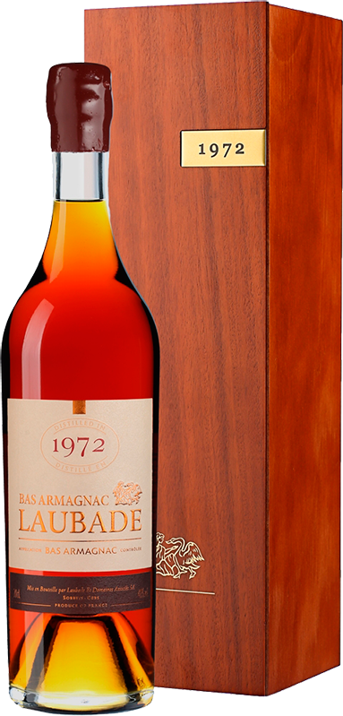 Chateau de Laubade, Vintage 1972, in wooden box, 0.7 л.