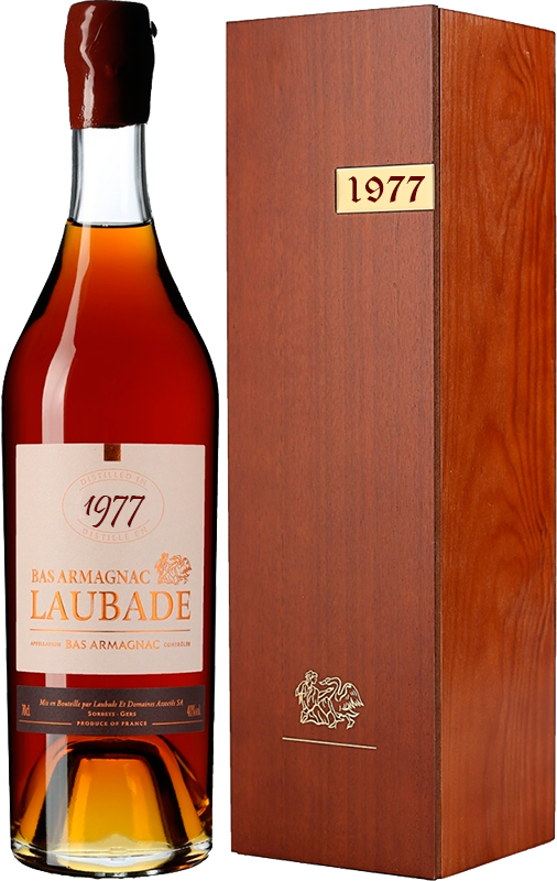 Chateau de Laubade, Vintage 1977, in wooden box, 0.7 л.