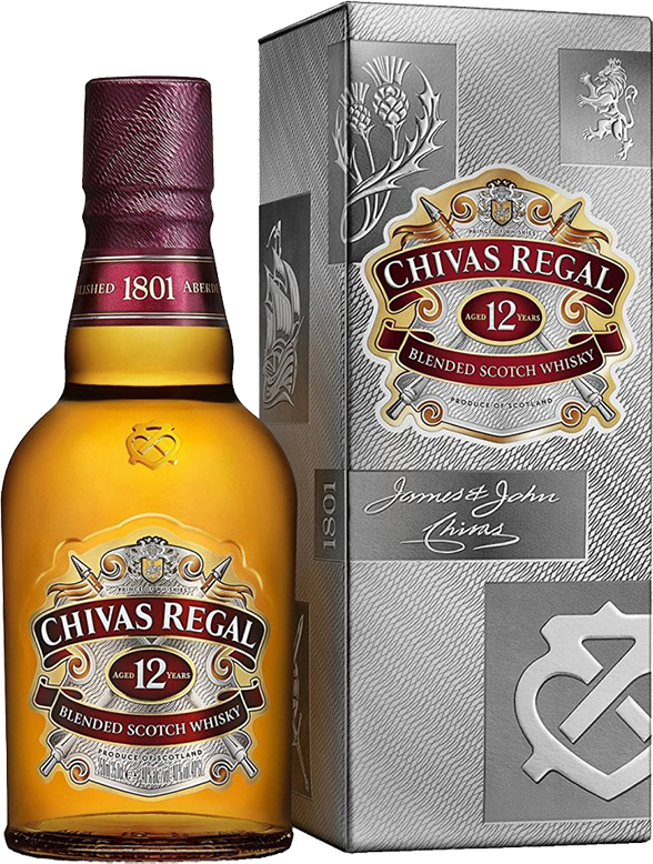 Chivas Regal 12 years old, in gift box, 0.375 л.