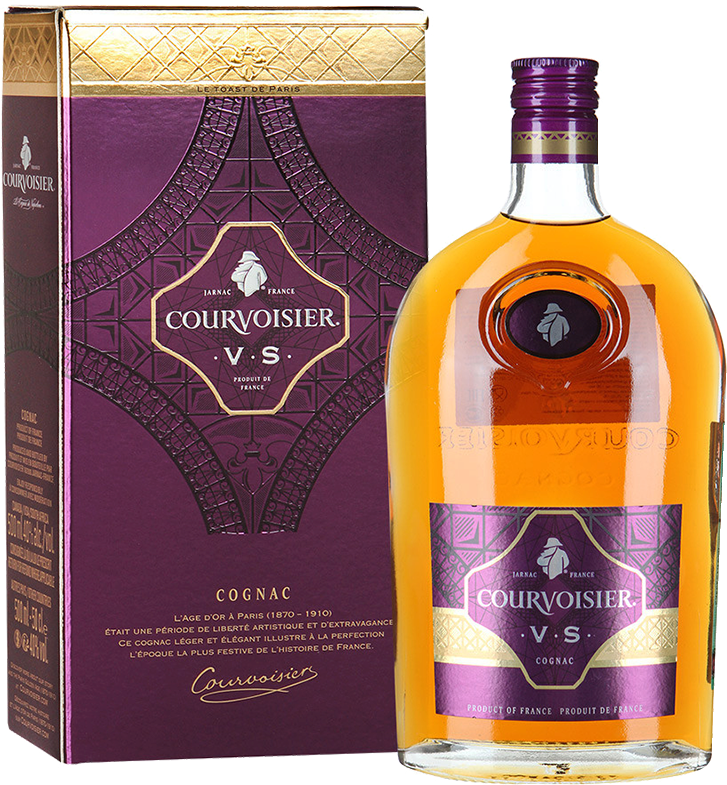 Courvoisier V.S. flask, in gift box, 0.5 л.