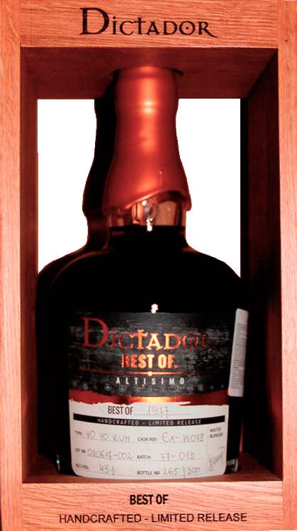 Dictador Best Of, Altisimo 1977, in wooden box, 0.7 л.