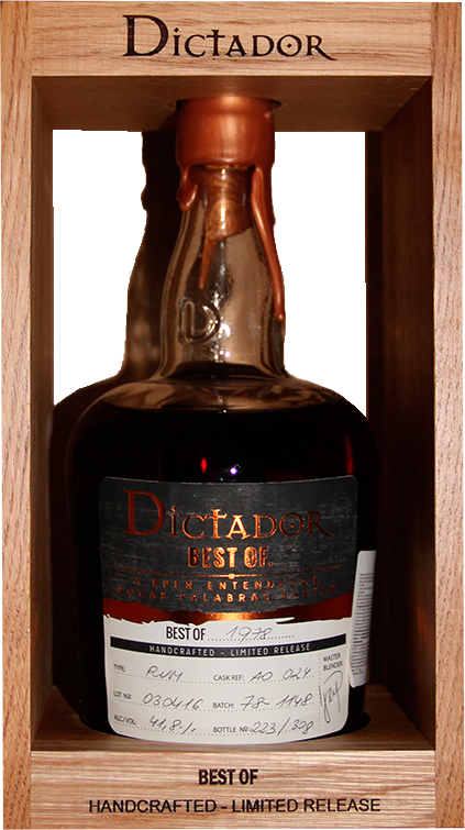 Dictador Best Of, Rum Style 1978, in wooden box, 0.7 л.