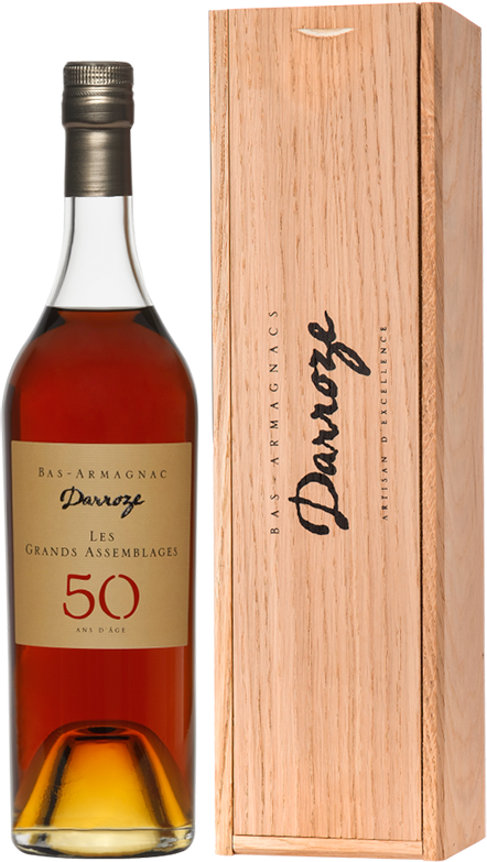 Darroze, Les Grands Assemblages, 50 Ans d'Age, Bas-Armagnac, in wooden box, 0.7 л.