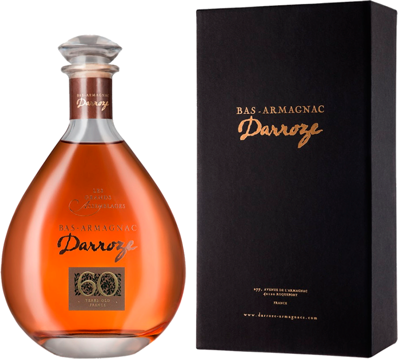 Darroze, Les Grands Assemblages, 60 Ans d'Age, Bas-Armagnac, in decanter & gift box, 0.7 л.