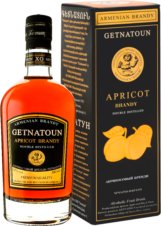 Getnatoun, Apricot Brandy, in gift box, 0.5 л.