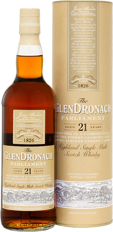 Glendronach, Parliament, 21 Years Old, in tube, 0.7 л.