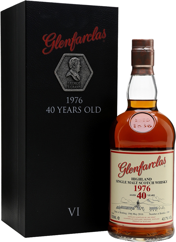 Glenfarclas, 40 Years Old, 1976, in gift box, 0.7 л.