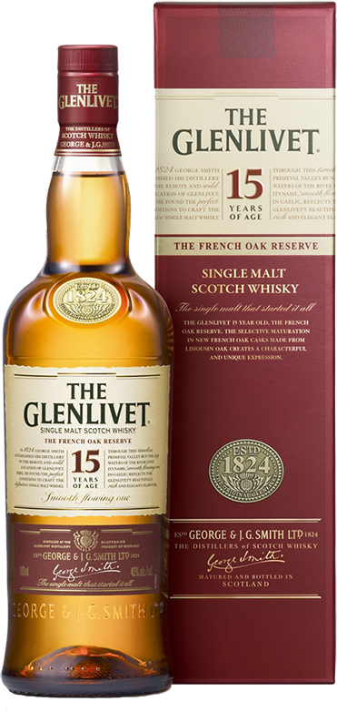 The Glenlivet 15 years old, in gift box, 0.7 л.