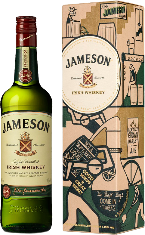 Jameson, in gift box, 0.7 л.