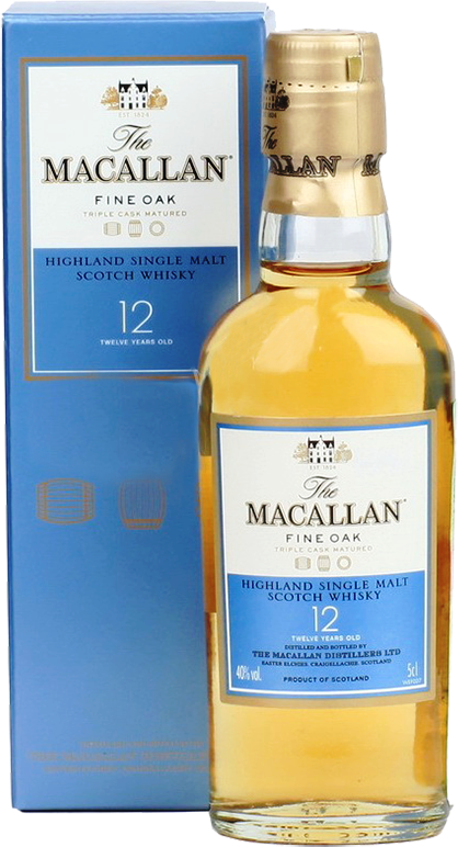 Macallan Fine Oak, 12 Years Old, in gift box, 0.05 л.
