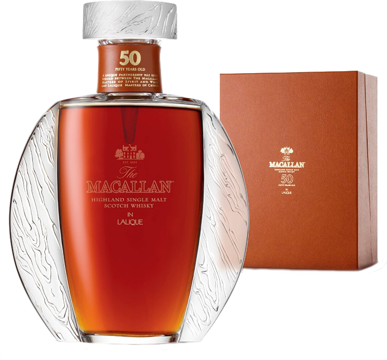 Macallan in Lalique, 50 Years Old, in wooden box, 0.7 л.