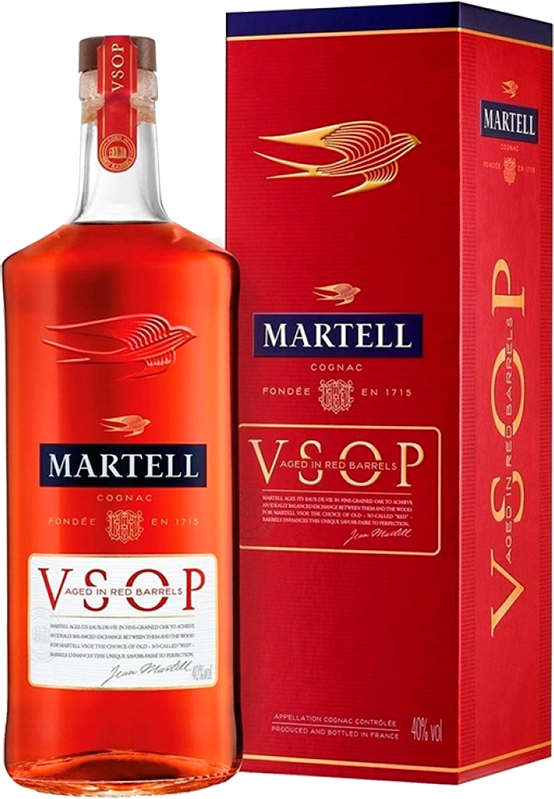 Martell V.S.O.P. Aged in Red Barrels, in gift box, 0.5 л.