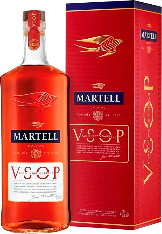 Martell V.S.O.P. Aged in Red Barrels, in gift box, 1.0 л.