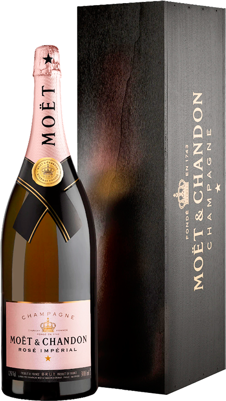 Moet & Chandon, Brut Imperial Rose, in wooden box, 3.0 л.