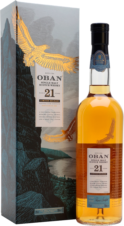 Oban, 21 Years Old, in gift box, 0.7 л.