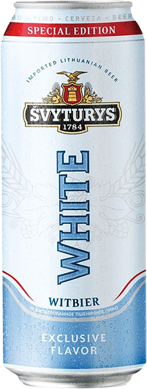 Svyturis, White, in can, 0.568 л.