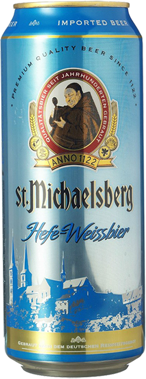 St. Michaelsberg, Hefe-Weissbier, in can, 0.5 л.