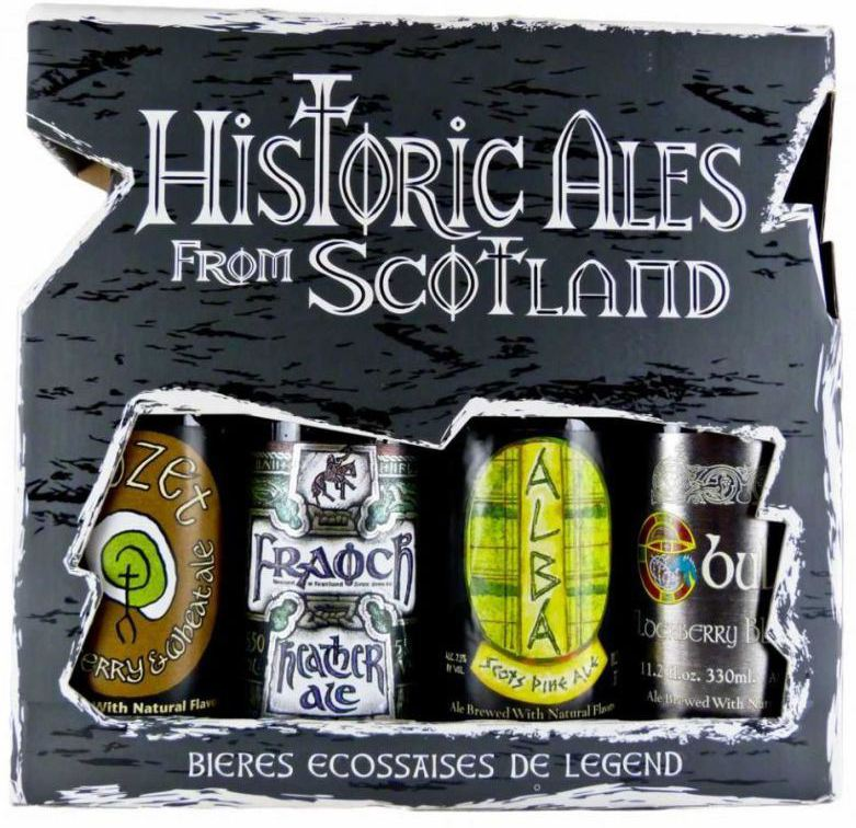 Williams Bros, Historic Ales From Scotland, gift set 4 bottless in box, 0.33 л.