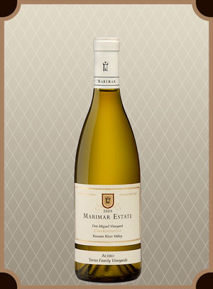 Белое сухое вино Marimar Estate Don Miguel Vineyard Chardonnay Acero (Дон Мигель Виньярд Шардоне Асеро)