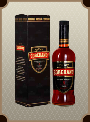 Brandy Soberano 5 gift box (Соберано 5 в п/у)
