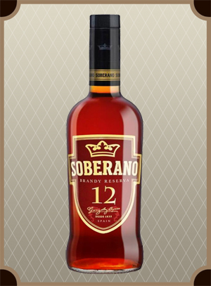 Brandy Soberano 12 gift box (Соберано 12 в п/у)