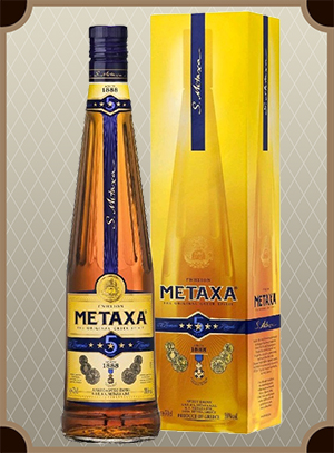 Brandy Metaxa 5* 0.7 л. (Бренди Метакса 5* в п/у)