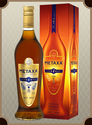 Brandy Metaxa 7* 0.7 л. (Бренди Метакса 7* в п/у)