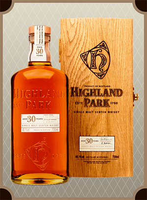 Highland Park 30 Year Old, Wooden box (Хайлэнд Парк 30 лет в дер/кор)