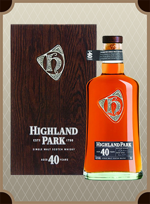 Highland Park 40 Year Old, Wooden box (Хайлэнд Парк 40 лет в дер/кор)