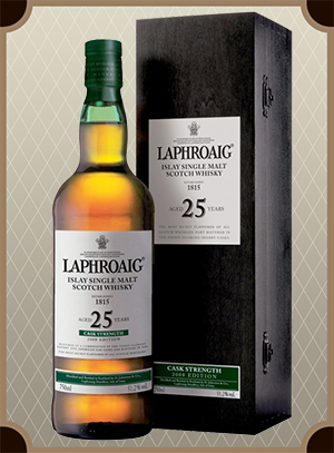 Laphroaig Malt 25 years old, with box (Лафройг Молт 25 лет)