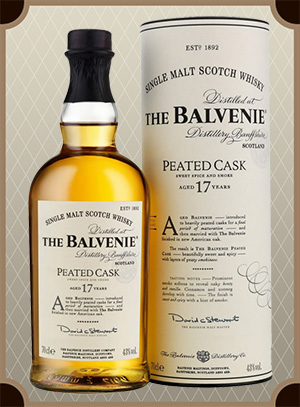 Balvenie Peated Cask, 17 Years Old, gift tube (Балвени Питед Каск, 17-лет)