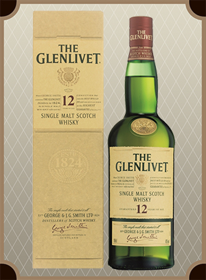 The Glenlivet 12 years, with box 1.0 л. (Гленливет 12 лет)