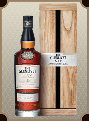The Glenlivet XXV, wood box (Гленливет 25 лет)