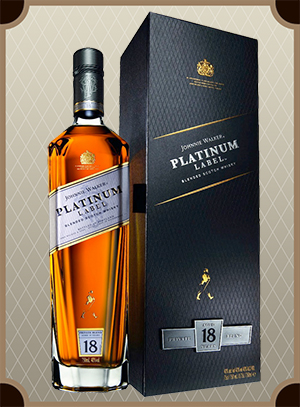 Johnnie Walker, Platinum, 18 Years Old, gift box (Джонни Уокер, Платинум, 18 лет)