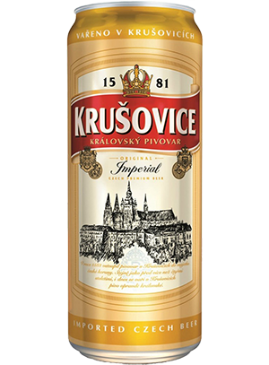 Krusovice Imperial, in can 0,5 л. (Крушовице Империал в ж/б)