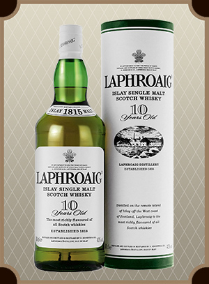 Laphroaig Malt 10 years old, with box (Лафройг Молт 10 лет)
