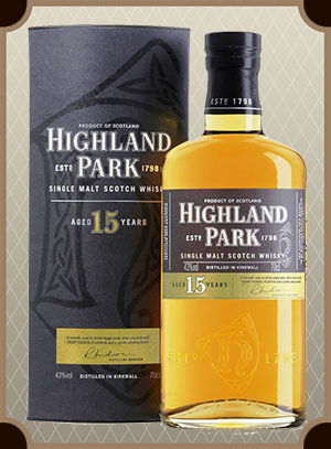 Highland Park 15 Year Old, with box (Хайлэнд Парк 15 лет)
