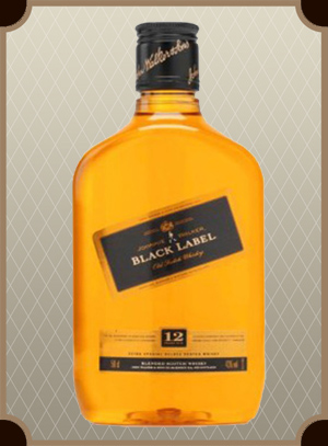 Johnnie Walker, Black Label 0.375 л. (Джонни Уокер, Блэк Лэйбл)