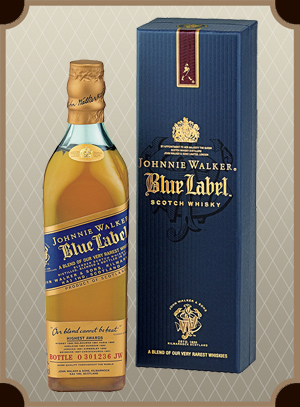 Johnnie Walker, Blue Label, with box 0.7 л. (Джонни Уокер, Блю Лэйбл п/у)