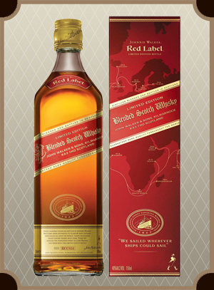 Johnnie Walker, Red Label box 0.7 л. (Джонни Уокер, Рэд Лэйбл п/у)