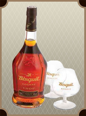Bisquit V.S.O.P. gift set with 2 glasses (Бисквит В.С.О.П. с двумя бокалами)