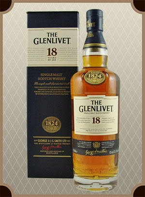 The Glenlivet 18 years, with box (Гленливет 18 лет)